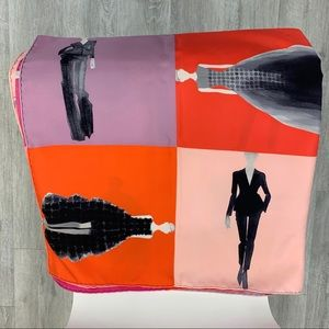 """DIOR """"Carre Silhouettes"""" scarf"""